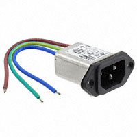 TE Connectivity Corcom Filters - 1-6609985-3 - PWR ENT RCPT IEC320-C14 PNL WIRE