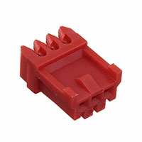 TE Connectivity AMP Connectors - 172051-3 - CONN PLUG IDC 3POS 22AWG RED
