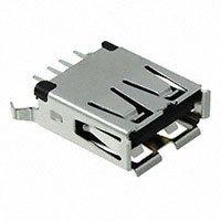 TE Connectivity AMP Connectors - 1734366-1 - CONN USB RCPT VERT A TYPE BLACK