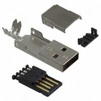 TE Connectivity AMP Connectors - 1734372-1 - CONN USB PLUG A SOLDER TAB BLACK