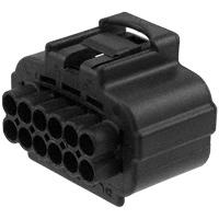 TE Connectivity AMP Connectors - 184115-1 - CONN PLUG HOUSING 12POS BLACK
