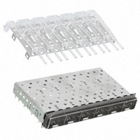 TE Connectivity AMP Connectors - 2007169-1 - CONN SFP+ CAGE 1X6 W/LGHT GASKET
