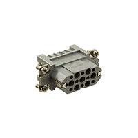 TE Connectivity AMP Connectors - 2-1103107-3 - INSERT FEMALE 15POS+1GND CRIMP