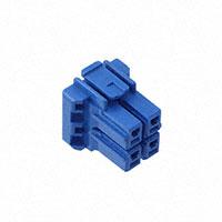 TE Connectivity AMP Connectors - 2-1376392-3 - 5MM POWER KEY 4P PLUG 2ROW BLU