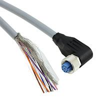 TE Connectivity AMP Connectors - 2273103-1 - M12X1 RA SKT 8P PIGTAIL 1.5M A