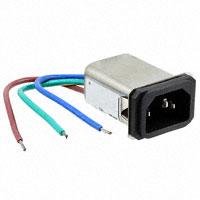 TE Connectivity Corcom Filters - 2-6609008-4 - PWR ENT RCPT IEC320-C14 PNL WIRE