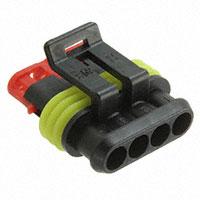 TE Connectivity AMP Connectors - 282088-1 - CONN PLUG 4POS 1.5 SERIES BLACK