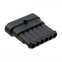 TE Connectivity AMP Connectors - 282108-1 - CONN TAB HOUSING 6POS BLACK