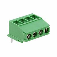 TE Connectivity AMP Connectors - 284414-4 - TERM BLOCK HEADER 4POS R/A .137
