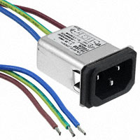 TE Connectivity Corcom Filters - 3-6609006-7 - PWR ENT RCPT IEC320-C14 PNL WIRE