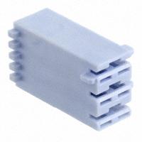 TE Connectivity AMP Connectors - 521205-1 - CONN RCPT HOUSING 0.25 3POS BLUE