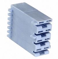 TE Connectivity AMP Connectors - 521206-1 - CONN RCPT HOUSING 0.25 4POS BLUE