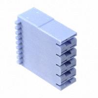 TE Connectivity AMP Connectors - 521207-1 - CONN RCPT HOUSING 0.25 5POS BLUE