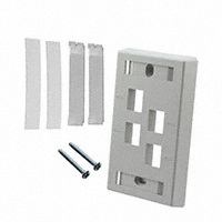 TE Connectivity AMP Connectors - 557502-4 - FACEPLATE SINGLE GANG 4PORT GRAY