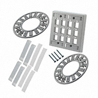 TE Connectivity AMP Connectors - 558086-4 - FACEPLATE DBL GANG 12PORT GRAY