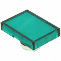 TE Connectivity ALCOSWITCH Switches - 64T5 - LENS SET RECT GREEN 3PCS