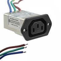 TE Connectivity Corcom Filters - 6609018-8 - PWR ENT RCPT IEC320-C14 PNL WIRE