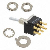TE Connectivity ALCOSWITCH Switches - 6-6437630-8 - SWITCH TOGGLE DPDT 0.4VA 20V