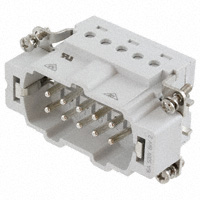TE Connectivity AMP Connectors - 7-1103636-1 - INSERT MALE 10POS+1GND CLAMP