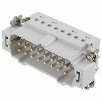 TE Connectivity AMP Connectors - 7-1103638-1 - INSERT MALE 16POS+1GND CLAMP