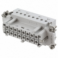 TE Connectivity AMP Connectors - 7-1103639-1 - INSERT FEMALE 16POS+1GND CLAMP