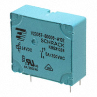 TE Connectivity Potter & Brumfield Relays - V23057B0006A102 - RELAY GEN PURPOSE SPST 5A 24V