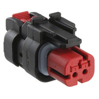 TE Connectivity AMP Connectors - 776522-1 - CONN PLUG ASSY 2POS 18-20AWG RED