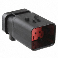 TE Connectivity AMP Connectors - 776538-1 - CONN CAP ASSY 8POS 18-20AWG RED