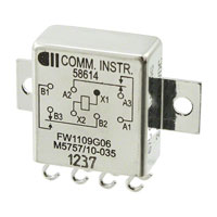 TE Connectivity Aerospace, Defense and Marine - FW1109G06 - RELAY GEN PURPOSE DPDT 2A 26.5V