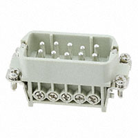 TE Connectivity AMP Connectors - HA-010-M - INSERT MALE 10+1GND SCREW