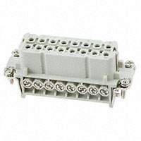 TE Connectivity AMP Connectors - HA-016-F(17-32) - INSERT FEMALE 16+1GND SCREW