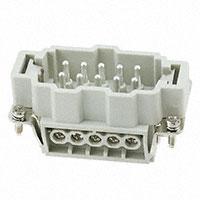 TE Connectivity AMP Connectors - HE-010-M - INSERT MALE 10POS SCREW