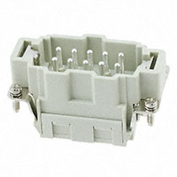TE Connectivity AMP Connectors - HE-010-MS - INSERT MALE 10POS CLAMP