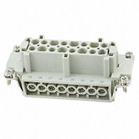 TE Connectivity AMP Connectors - HE-016-F(17-32) - INSERT FEMALE 16POS SCREW