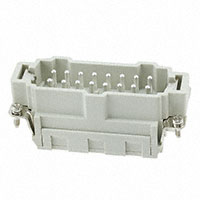 TE Connectivity AMP Connectors - HE-016-MS - INSERT MALE 16POS CLAMP