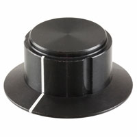 "TE Connectivity ALCOSWITCH Switches - KS900B1/4 - SWITCH KNOB 3FLUTE 0.94"" BLACK"