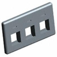 TE Connectivity AMP Connectors - 558107-1 - FACEPLATE 3PORT BLACK