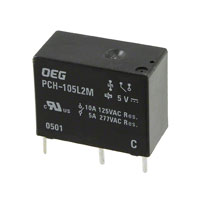 TE Connectivity Potter & Brumfield Relays - PCH-105L2M,000 - RELAY GEN PURPOSE SPST 5A 5V