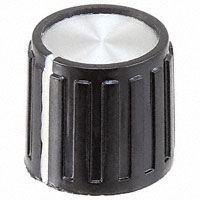 """TE Connectivity ALCOSWITCH Switches - PKG50B1/8 - SWITCH KNOB RIBBED .551"""" PKG"""