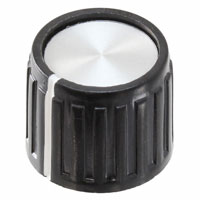 """TE Connectivity ALCOSWITCH Switches - PKG60B1/4 - SWITCH KNOB RIBBED 0.66"""" PKG"""