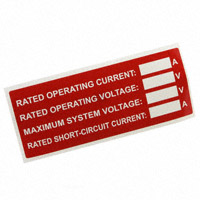 """TE Connectivity AMP Connectors - SOL-SRS-127508N-.1-4 - LABEL ID/RATINGS 4.12""""X3.01"""""""