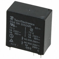 TE Connectivity Potter & Brumfield Relays - OSA-SH-205DM5,600 - RELAY GENERAL PURPOSE DPST 5A 5V