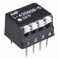 TE Connectivity ALCOSWITCH Switches - 1-435802-5 - SWITCH PIANO DIP SPST 25MA 24V