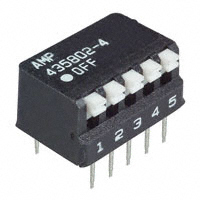 TE Connectivity ALCOSWITCH Switches - 5435802-4 - SWITCH PIANO DIP SPST 25MA 24V