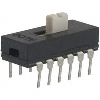 TE Connectivity ALCOSWITCH Switches - ASE42G - SWITCH SLIDE 4PDT 0.4VA 20V
