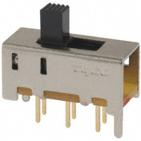 TE Connectivity ALCOSWITCH Switches - MHS222G - SWITCH SLIDE DPDT 0.4VA 20V
