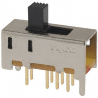 TE Connectivity ALCOSWITCH Switches - MHS233G - SWITCH SLIDE DP3T 0.4VA 20V