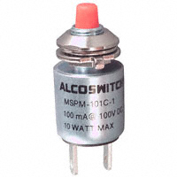 TE Connectivity ALCOSWITCH Switches - MSPM101CS1 - SWITCH PUSH SPST-NO 0.1A 50V