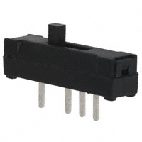 TE Connectivity ALCOSWITCH Switches - 1825283-1 - SWITCH SLIDE SP3T 100MA 12V