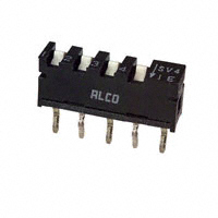 TE Connectivity ALCOSWITCH Switches - SSV04 - SWITCH SLIDE DIP SPST 0.40VA 20V